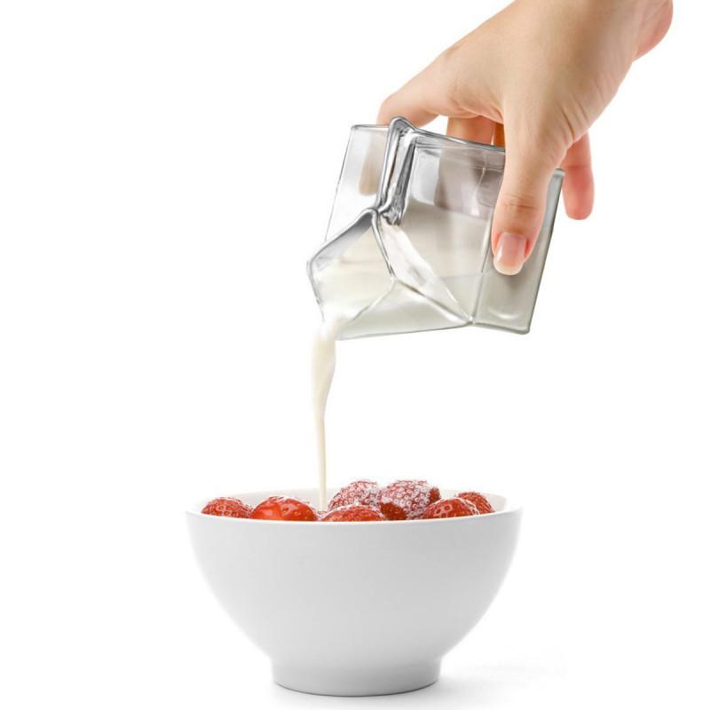 half pint milchkanne aus glas