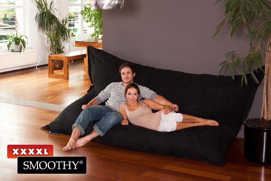 smoothy xxxxl der gr te sitzsack der welt in schwarz. Black Bedroom Furniture Sets. Home Design Ideas