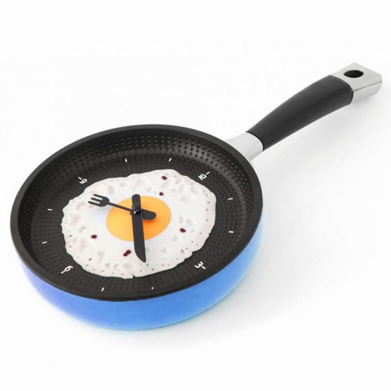 Pfannenuhr Pfannen Uhr in Blau