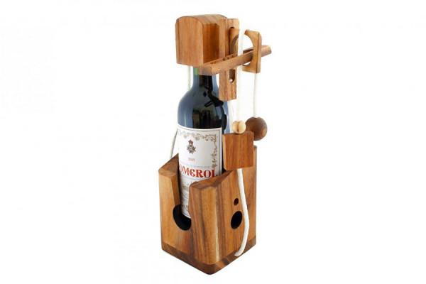 Flaschenpuzzle - Holz Flaschen Puzzle für Wein Geschenke