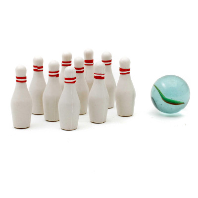 Mini Bowling Set - Bowlingspiel für Unterwegs - Geheimshop.de