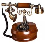 Nostalgie-Telefon - Retro Telefon aus Holz  - Geheimshop.de