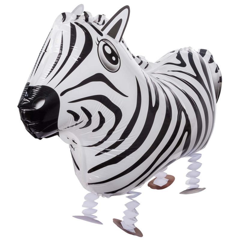 Laufender Heliumballon Zebra Luftballon