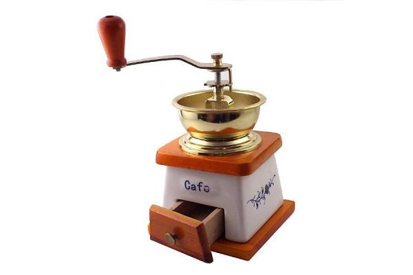 Nostalgie Kaffeemühle aus Keramik und Holz