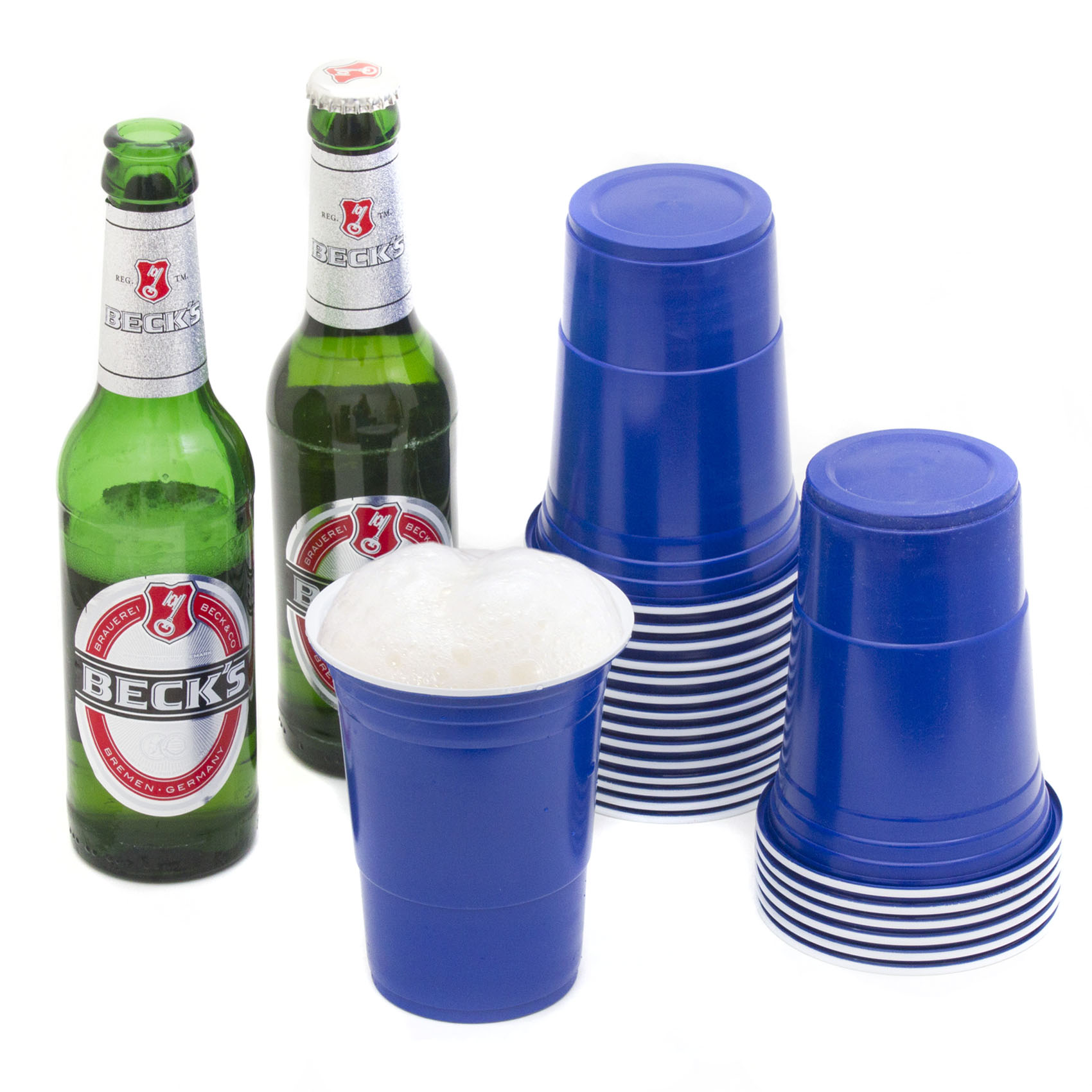 partybecher blau blue party beer pong cups 50 becher 3 b lle. Black Bedroom Furniture Sets. Home Design Ideas