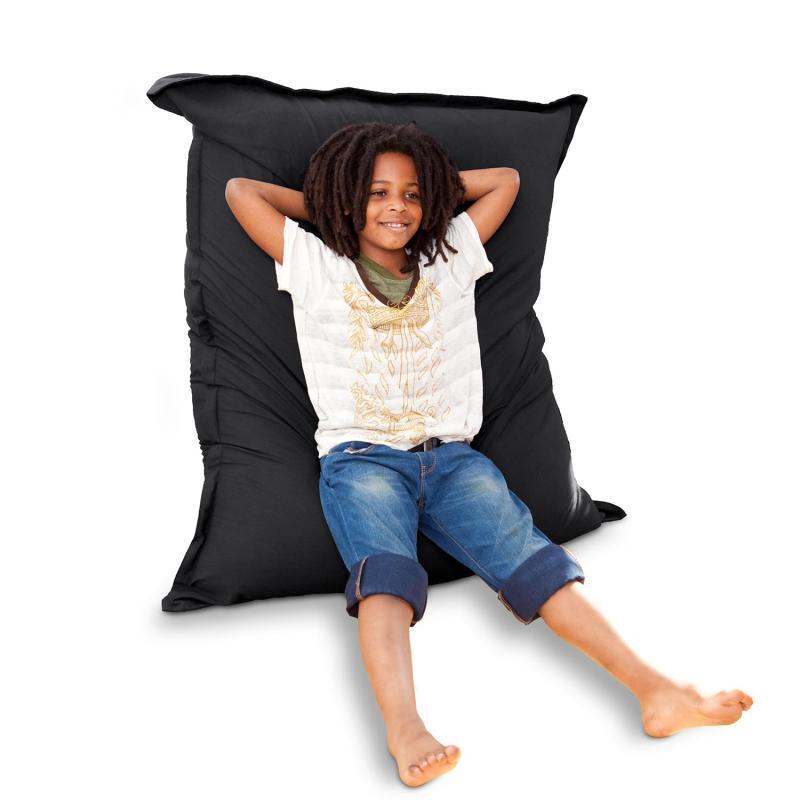 Sitzsack Junior Baumwolle schwarz
