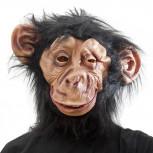 Affenmaske aus Latex - Schimpansen Affen Maske mit Haaren