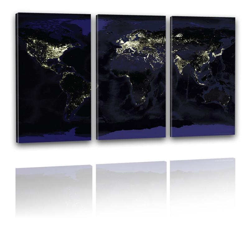 Earthlights Welt bei Nacht Kunstdruck Leinwand