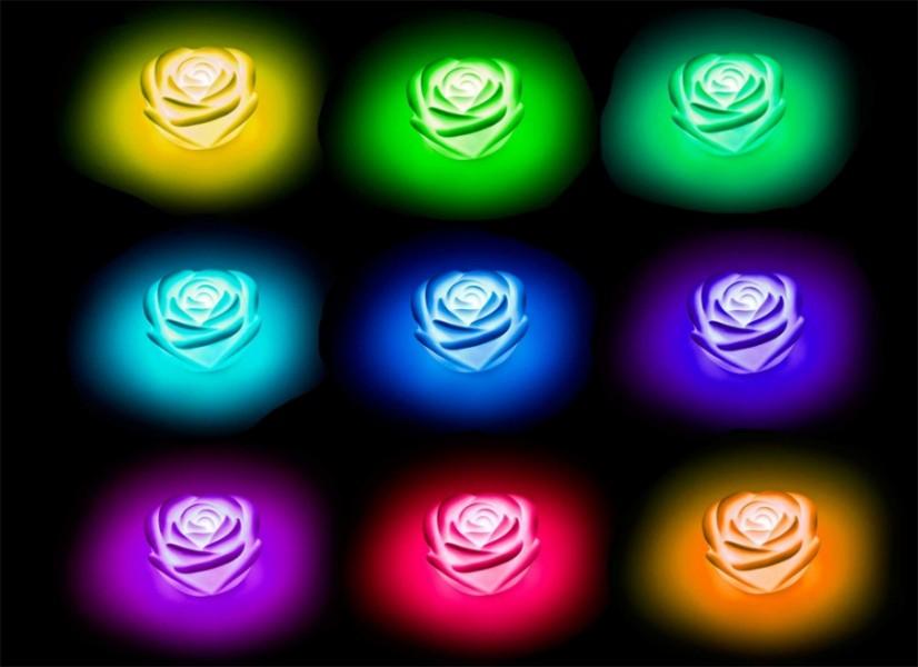 led rose 3er set leuchtend mit farbspiel g nstig kaufen. Black Bedroom Furniture Sets. Home Design Ideas