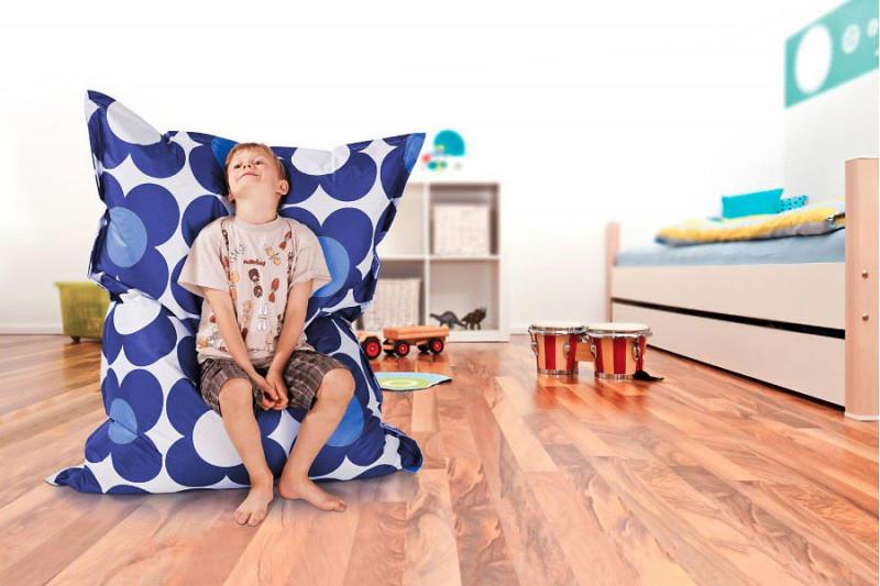 Kinder Sitzsack Junior blau