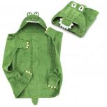 Kapuzenhandtuch - Baby Handtuch mit Kapuze - Krokodil