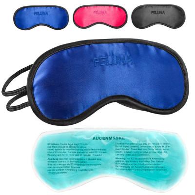 Feluna Schlafmaske aus Satin mit Kühlpad