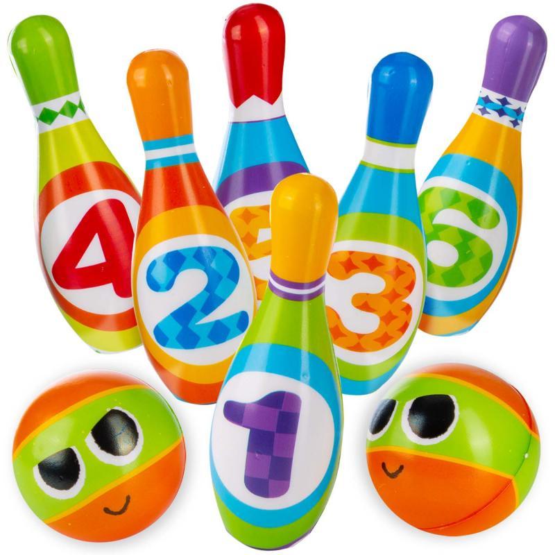PU Bowling Set aus Gummi für Kinder