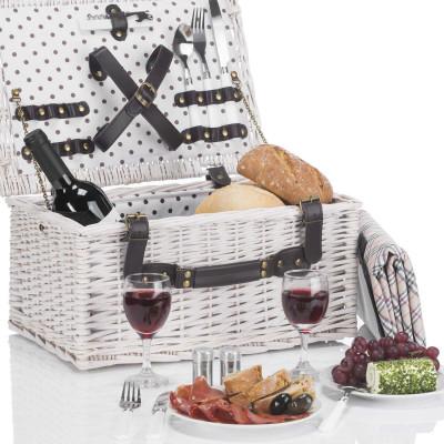 Picknick Weidenkorb - Picknickkorb für 2 Personen