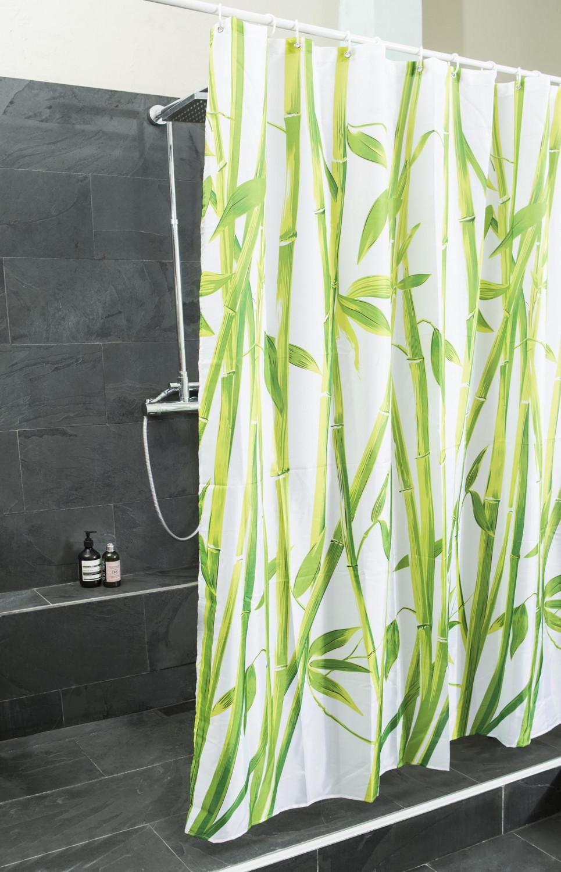 duschvorhang bambus design duschvorh nge 180x200cm. Black Bedroom Furniture Sets. Home Design Ideas