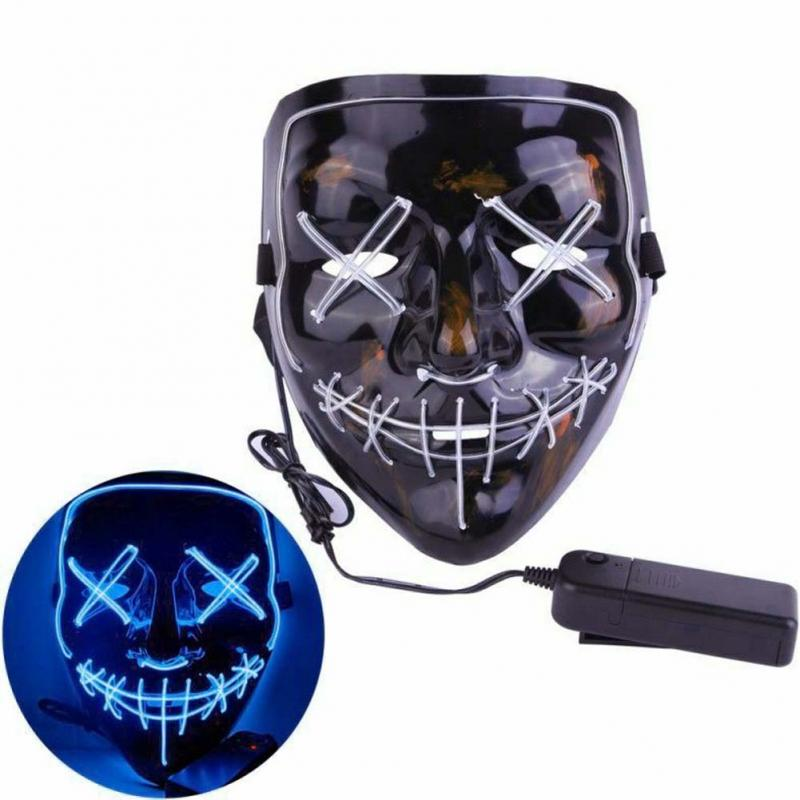 LED Grusel Maske