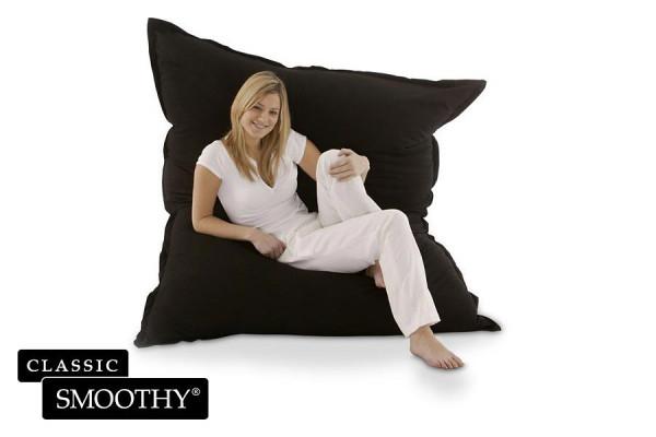 Smoothy Sitzsack Classic Cotton in Mitternachts-Schwarz