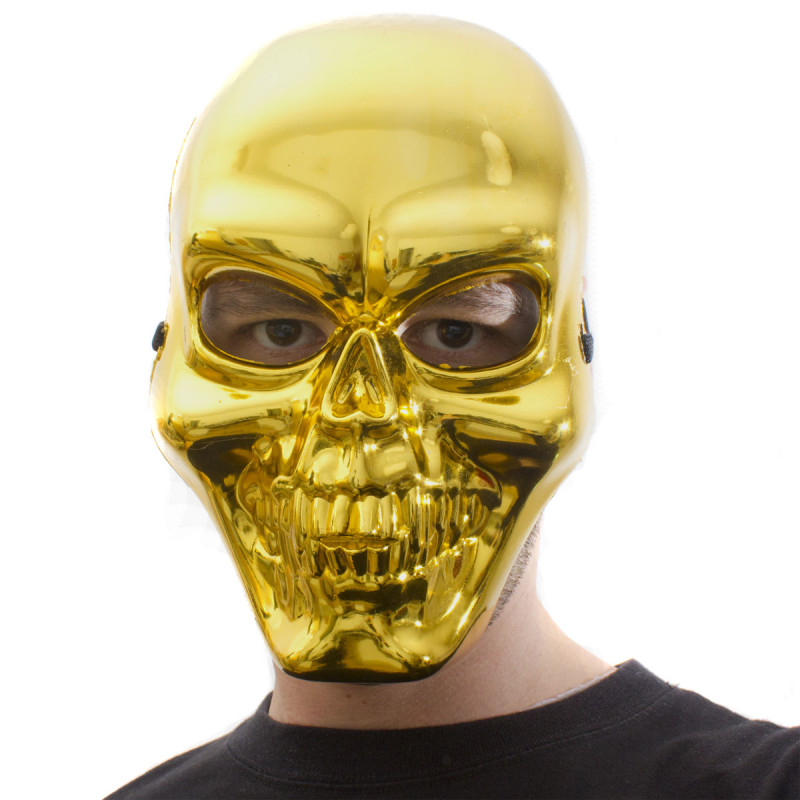 Skelettmaske Gold
