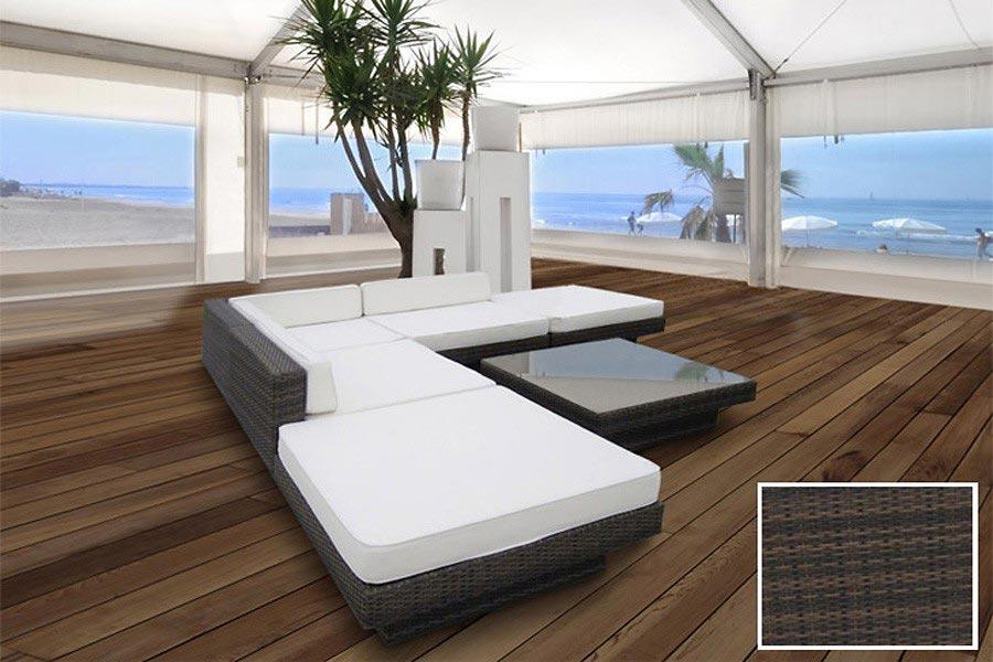 Rattan Lounge Sofa Sitzgruppe aus Polyrattan