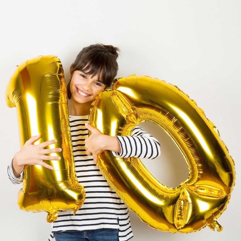 Goldene Zahlen Luftballons