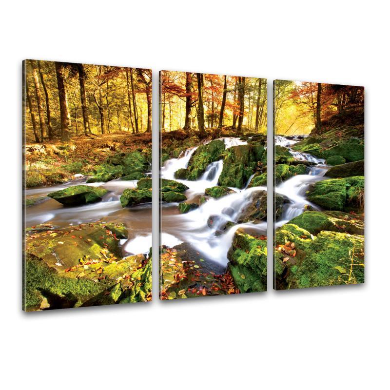 Wasserfall Kunstdruck Leinwand