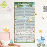 Baby Rubbel Schwangerschaftskalender - Babykalender zum Rubbeln