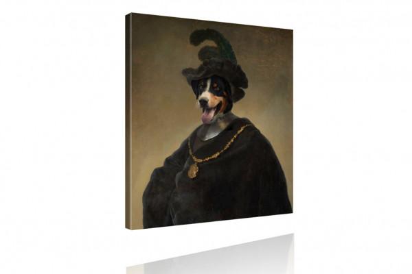Kunstdruck - Portrait mit Twist: Hauptmann von Hund