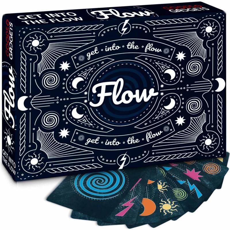 Flow ist das wohl schnellste Kartenspiel der Welt für 4 Personen