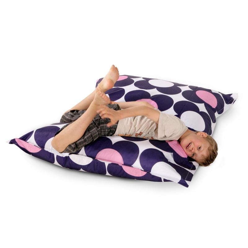 Sitzsack Junior Nightflower Blau Pink