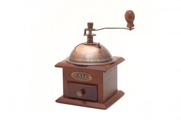 Nostalgie Kaffeemühle Antik aus Holz mit Wählscheibe
