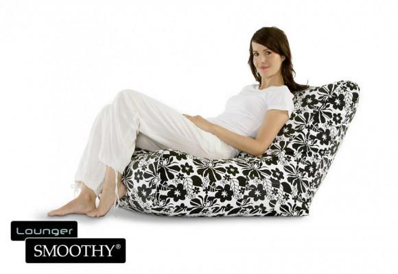 Smoothy Sitzsack Lounge Chair von Smoothy Black & White