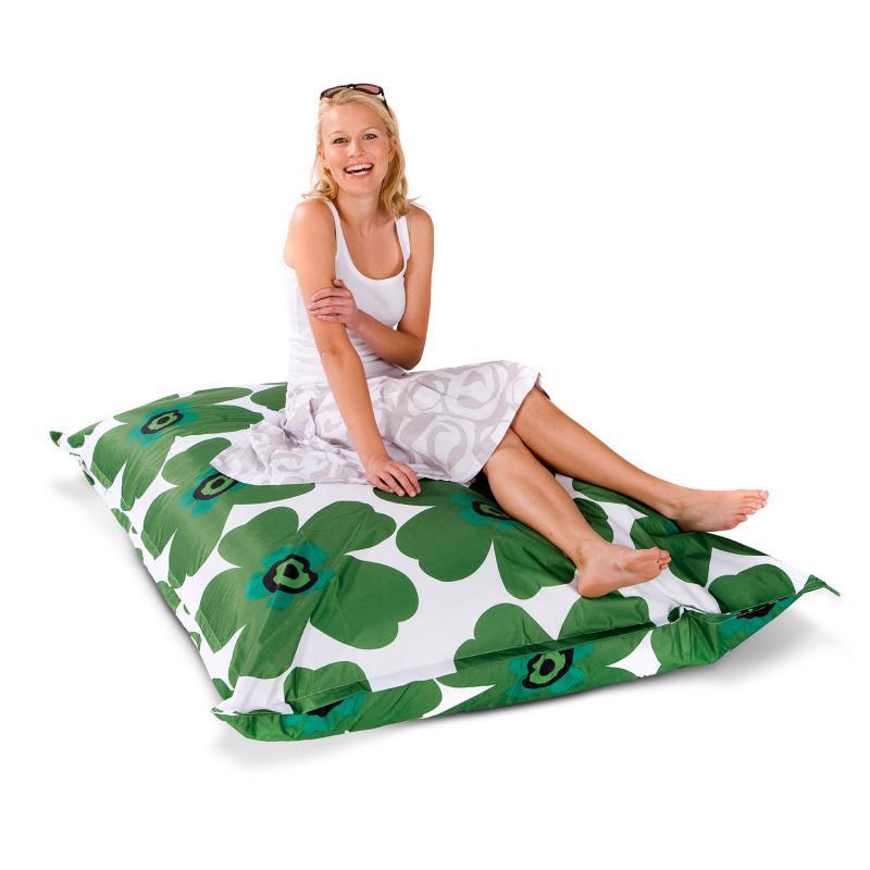Sitzsack Floralia grün