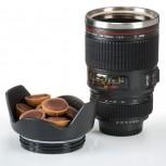 Kamera-Objektiv Tasse aus Edelstahl doppelwandig