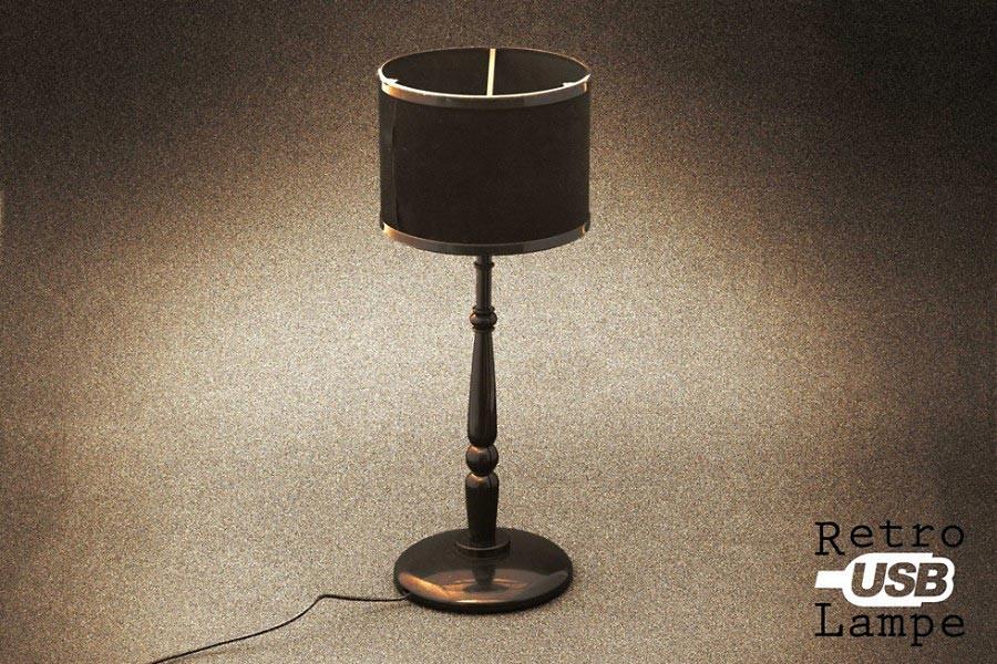 USB Lampe im Retro Lounge Design