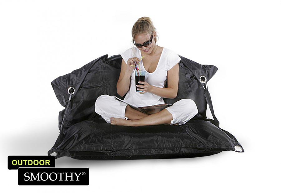 smoothy outdoor sitzsack supreme in mitternachts schwarz. Black Bedroom Furniture Sets. Home Design Ideas