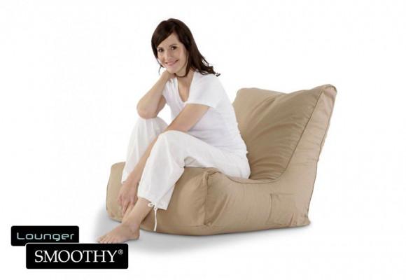 Smoothy Sitzsack Lounge Chair in Beige