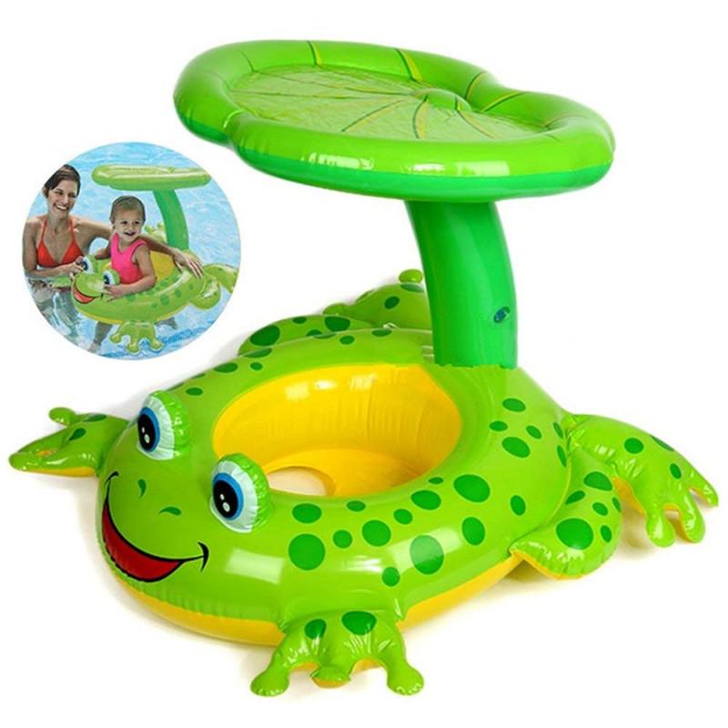 Babyboot Schwimmhilfe mit Sonnendach
