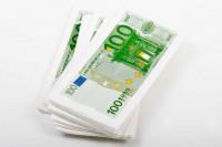 100-Euro-Geldschein Taschentücher Banknoten