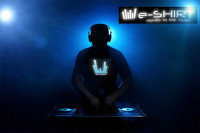LED Equalizer T-Shirt Blaues EQ Shirt