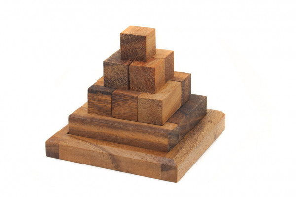 3D Holz-Puzzle Pyramide smartes Geduldspiel Pagoda