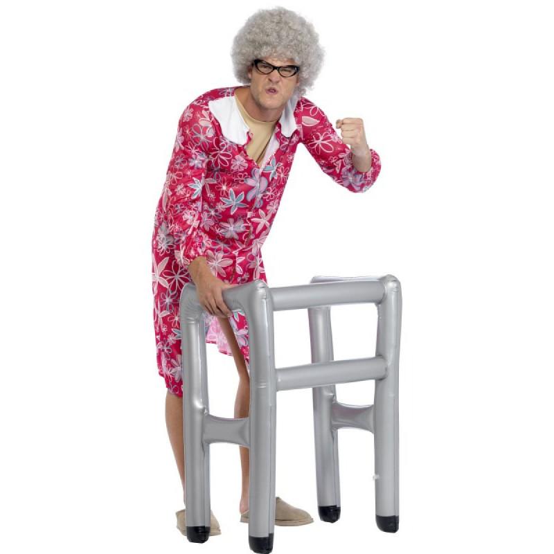 aufblasbare gehhilfe fake gehst tze f r karneval verkleidung spiel spa. Black Bedroom Furniture Sets. Home Design Ideas