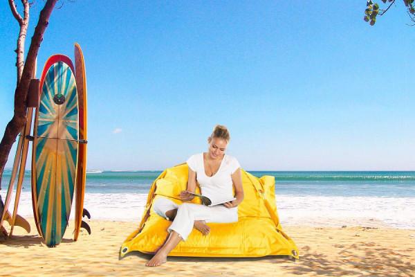 Smoothy Sitzsack Outdoor Supreme in Sonnen-Gelb