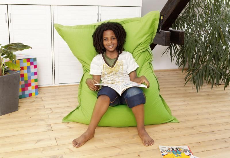 grüner Kinder Sitzsack