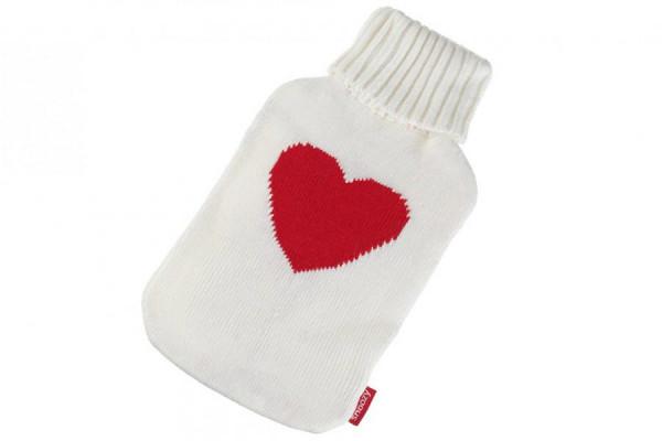 Wärmflaschen Bezug mit Herz