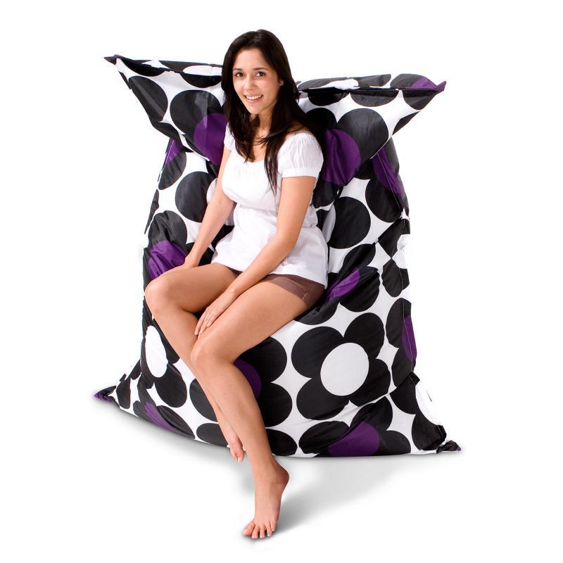 Sitzsack Nightflower schwarz violett