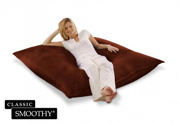 Smoothy Sitzsack Cotton Samt in Braun