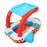 Baby Schwimmhilfe Flugzeug - Kinder Schwimmsitz mit Sonnendach