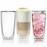 Doppelwandiges Trinkglas von Dimono 450ml