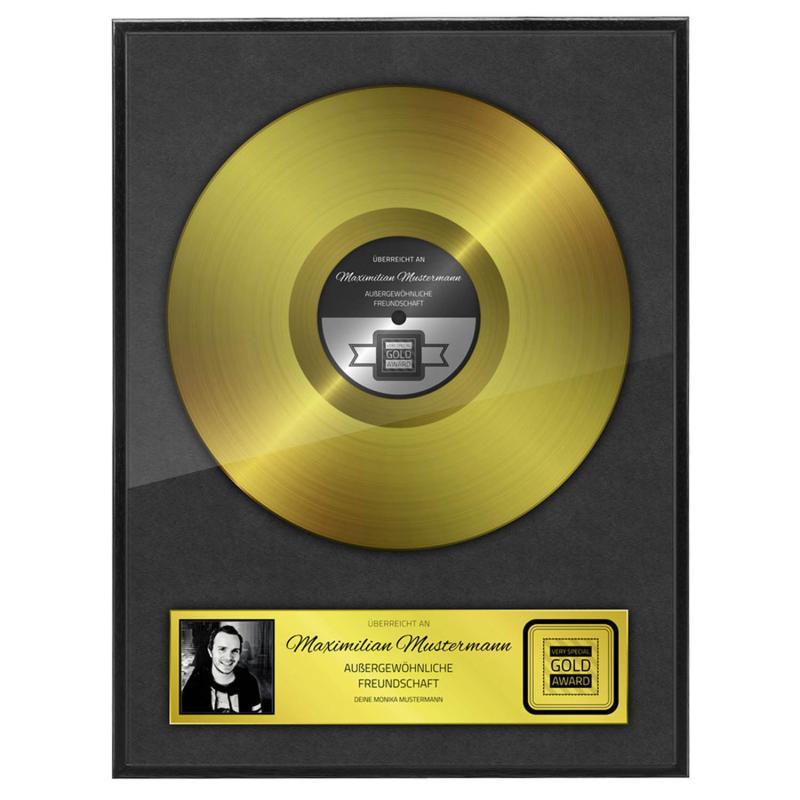 Persönliche goldene Schallplatte