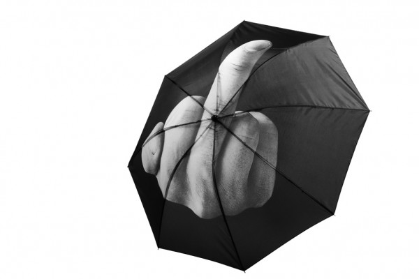 Fuck the Rain Regenschirm Mittelfinger Schirm
